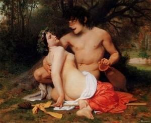 William-Bouguereau-xx-Faun-and-Bacchante-xx-Private-collection